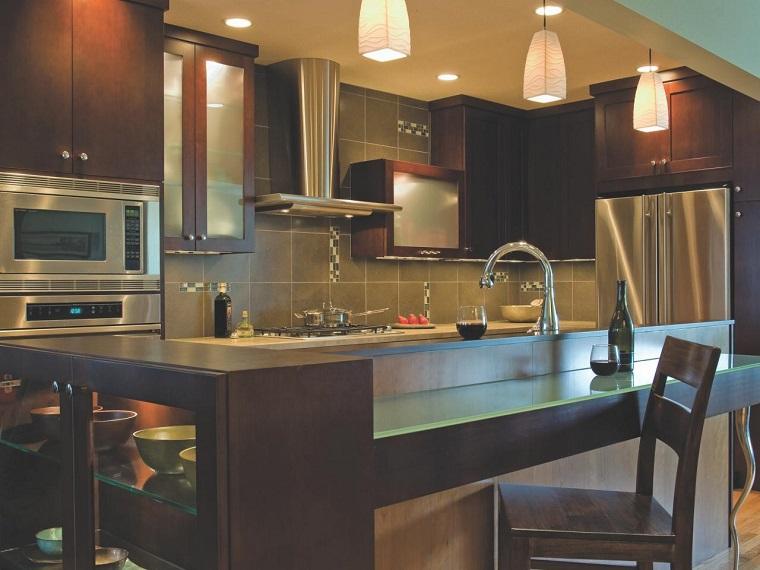 comment concevoir des armoires de cuisine idées de niveaux différents