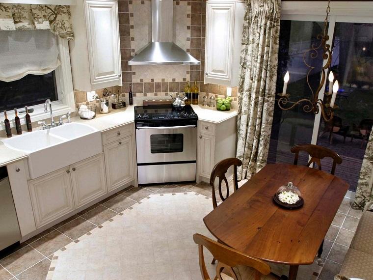 couleurs beige blanc table de cuisine chaises bois moderne