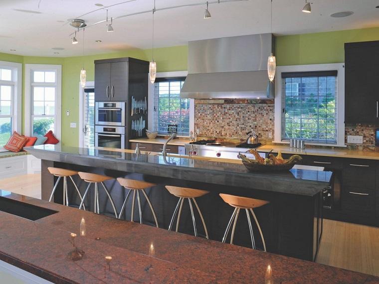 comment concevoir une cuisine moderne idées de comptoirs en verre