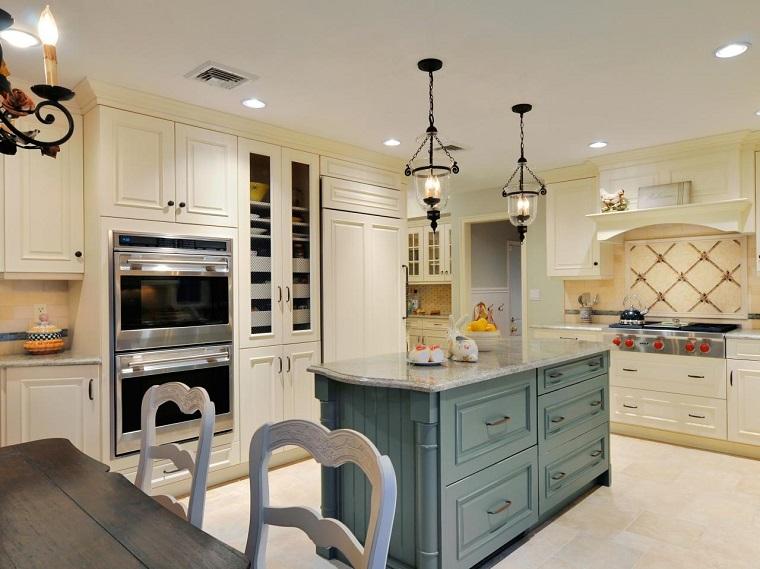 couleurs blanc vert cette cuisine armoires en bois modernes