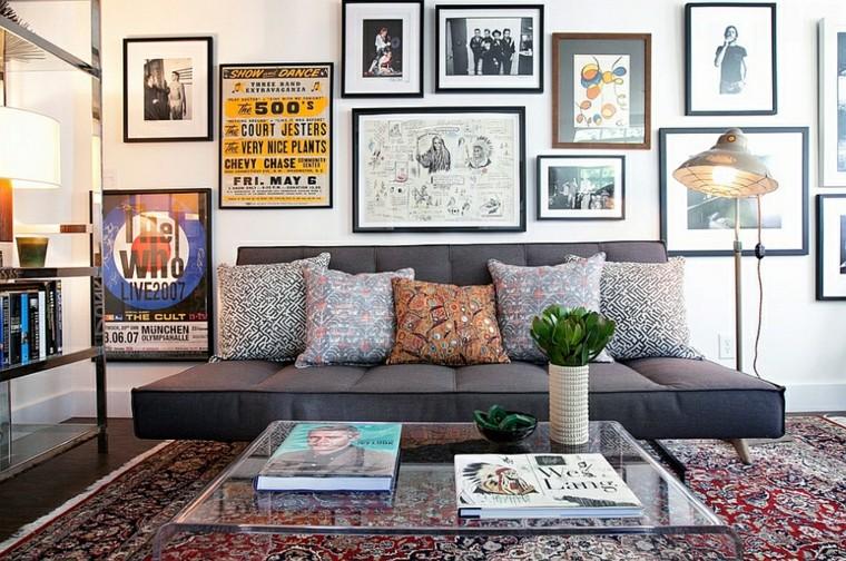 design salons peintures plantes coussins lampe