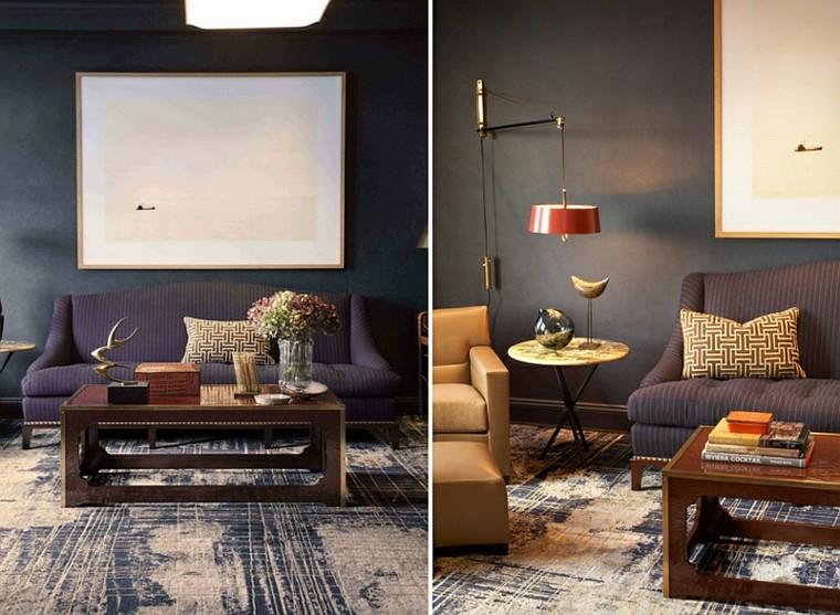 table en bois gris de salon design viril