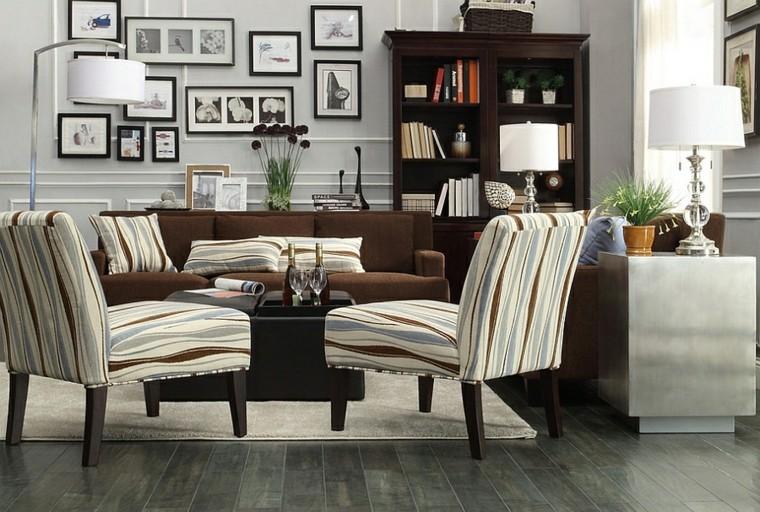 rayures grises lampes de salon peintures de meubles