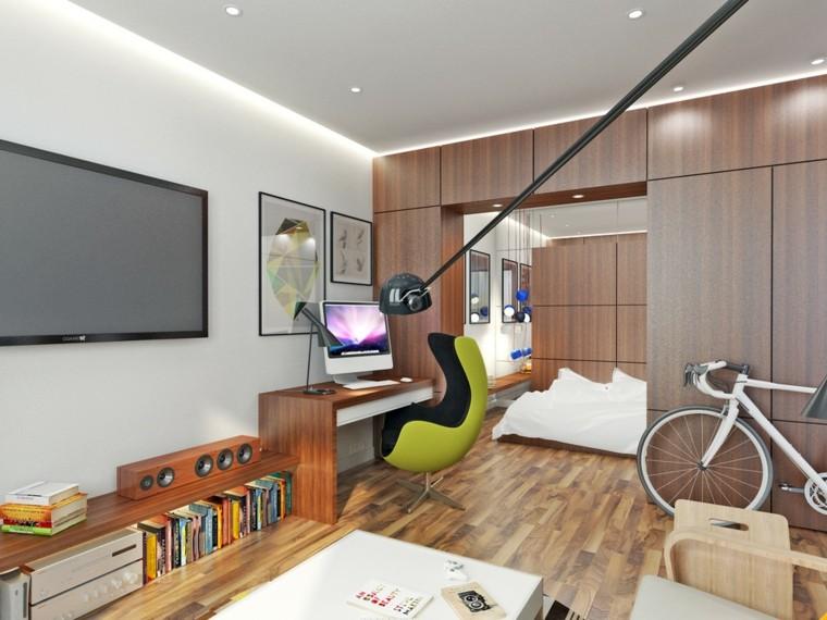 petits appartements conception d'armoires encastrées chambre ouverte