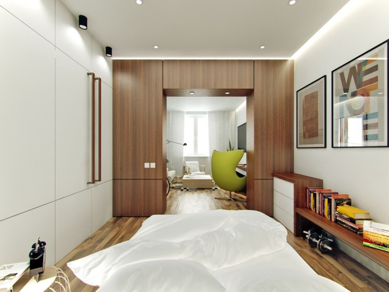 petits appartements salon design chambre ouverte