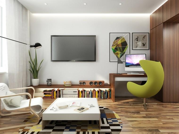 appartements-petite-chaise-bureau-idées-vertes