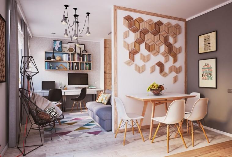 petits appartements bureau chaises modernes canapé design