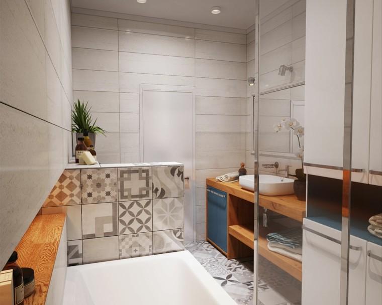 idées créatives petite salle de bain design plafond aramrio