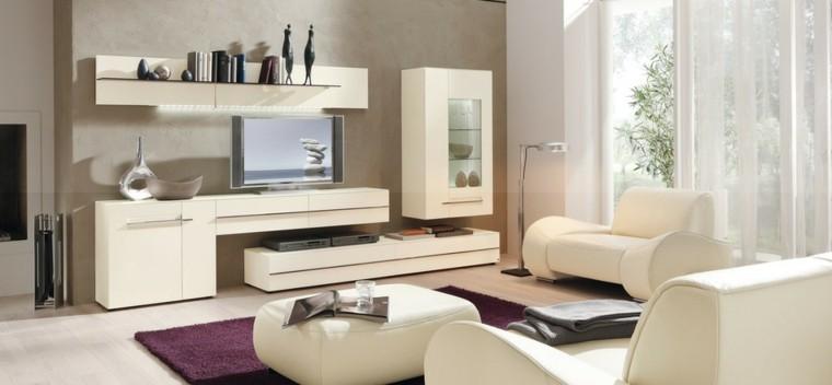 meuble de fenetres de salon lumineuses en cuir