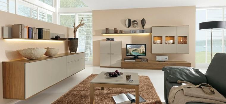 meubles de technologie moderne idées de couleur beige clair