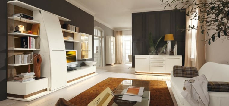 meubles de technologie moderne idées de table blanche en verre