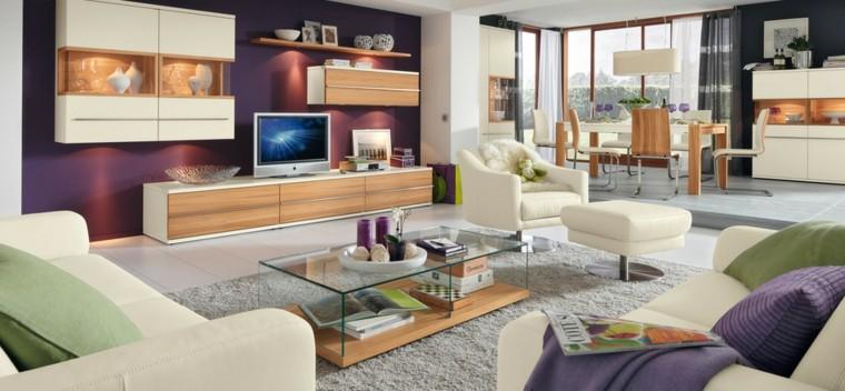 technologie salon spacieux lumineux idées de meubles confortables