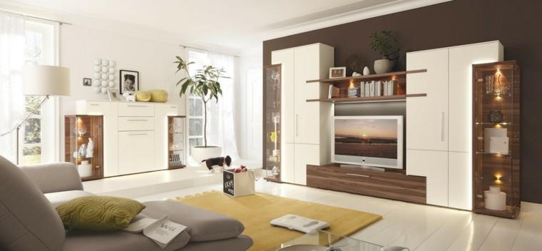 technologie salon spacieux blanc lumineux idées beige