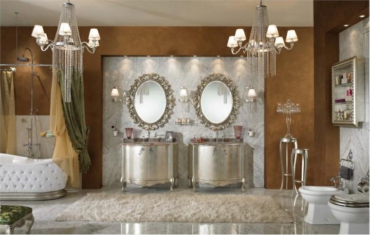 miroir mat de meubles de salle de bain romantique