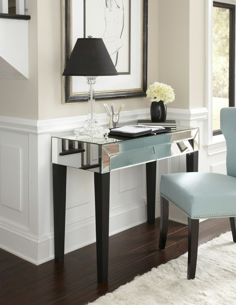 miroirs hauts de table de hall