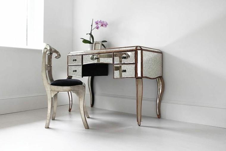 table chaise meubles miroir rétro