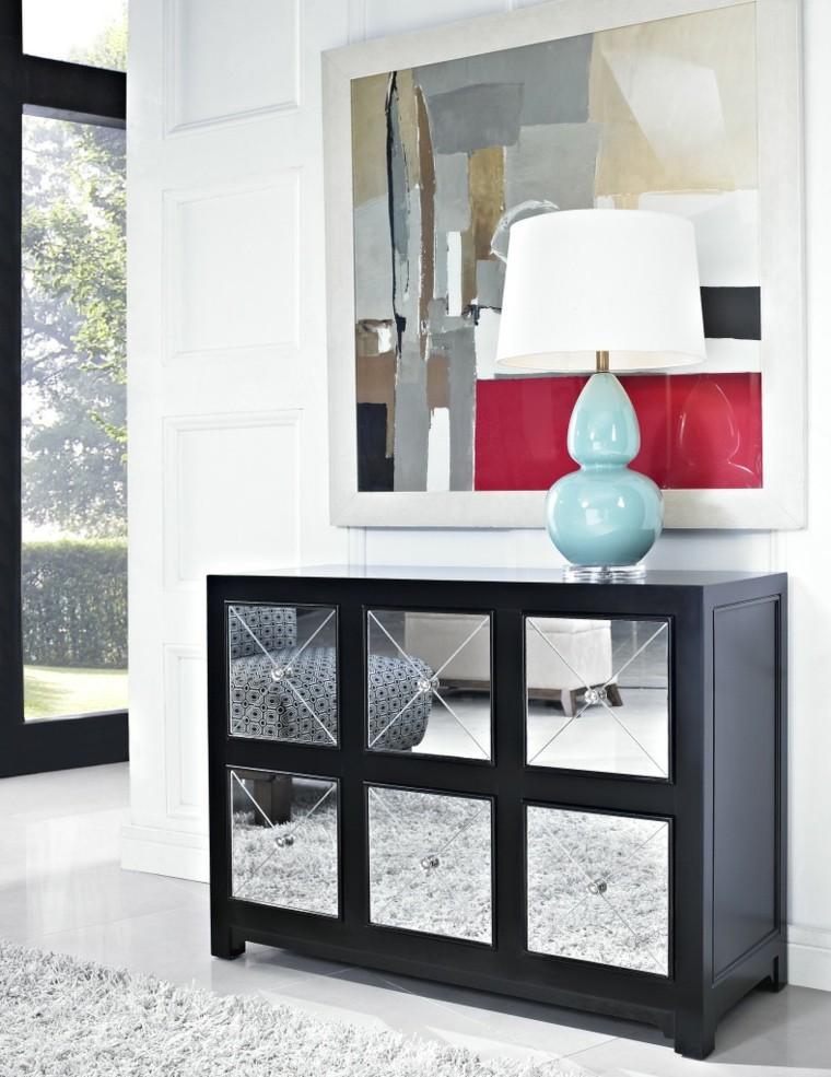 armoire d'entrée de miroirs décoratifs modernes