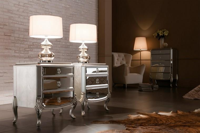 tables de chevet miroir de luxe romantique