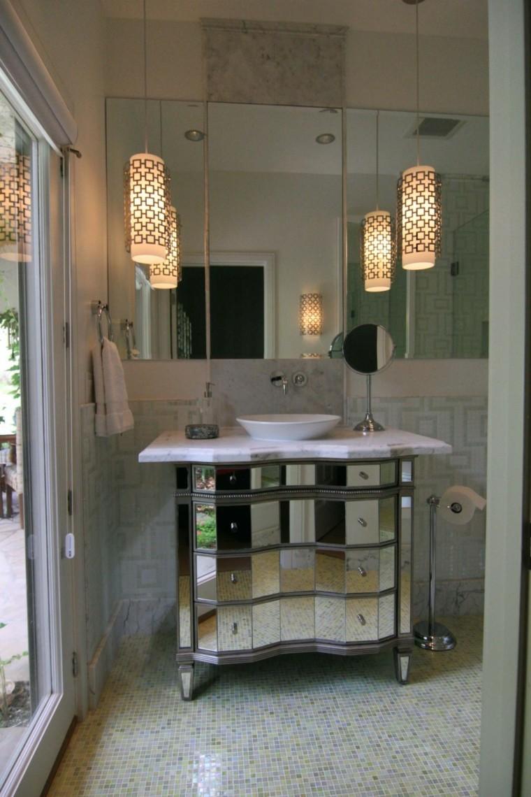 armoire de salle de bain tiroirs miroir rétro