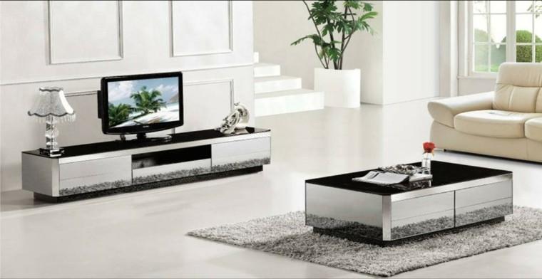 meubles salon miroir télévision