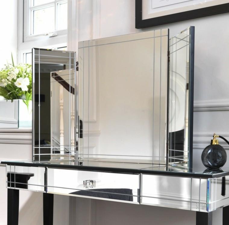 coiffeuse décorative moderne grand miroir