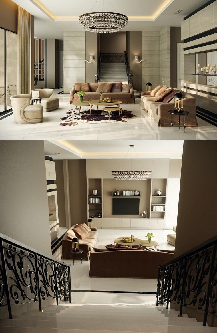 idées de couleur beige salon moderne design classique