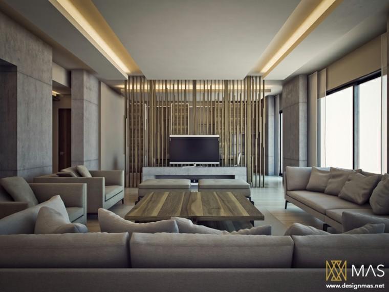 inspiration salon moderne grand meuble gris idées de design