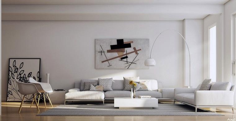 salon moderne large blanc idées originales design