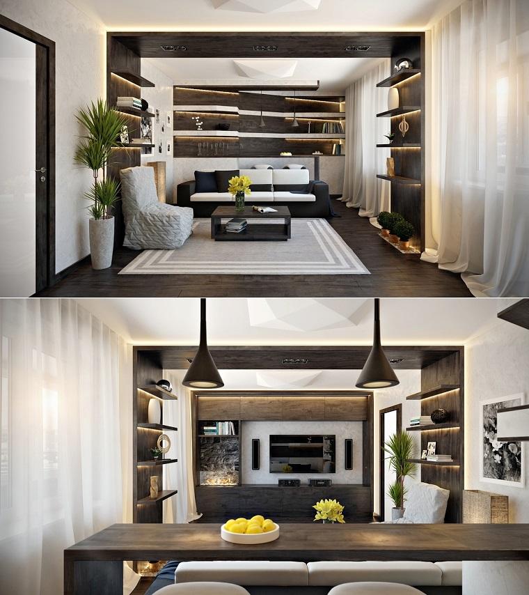 idées de bar de salon moderne meubles design original