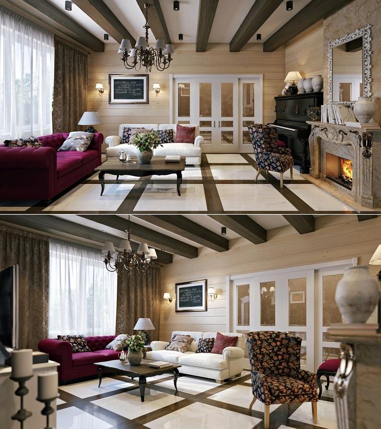 salon de style contemporain idées de canapé beige violet