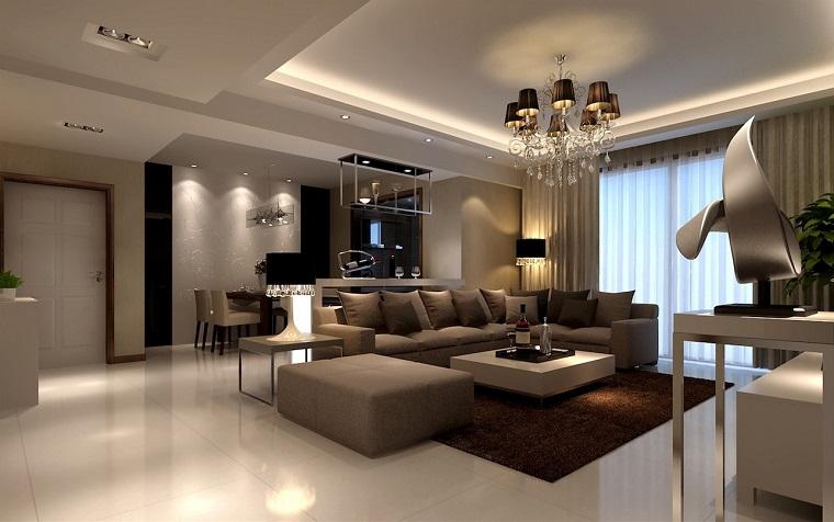salon de style classique idées de mur de meubles beiges