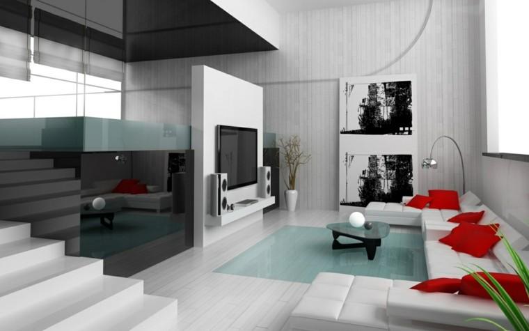 salon moderne idées luxueuses design blanc