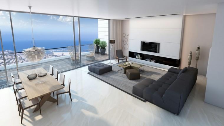 salon vue mer idées incroyables grand canapé design