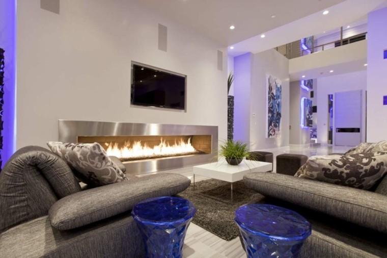 idées de conception originales de salon moderne violet