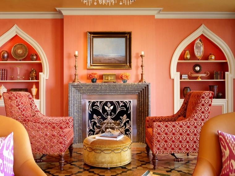 carrelage de cheminée idées narranja de style marocain