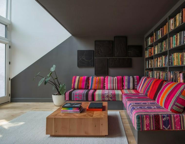 idées de style de canapé oriental couleurs vives modernes