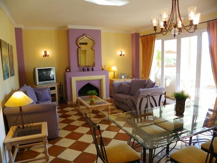 Idées simples de style marocain touches violettes