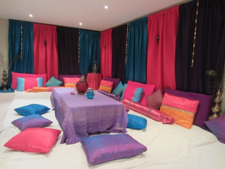 maroc coussins de salon rideaux de salon de couleurs vives