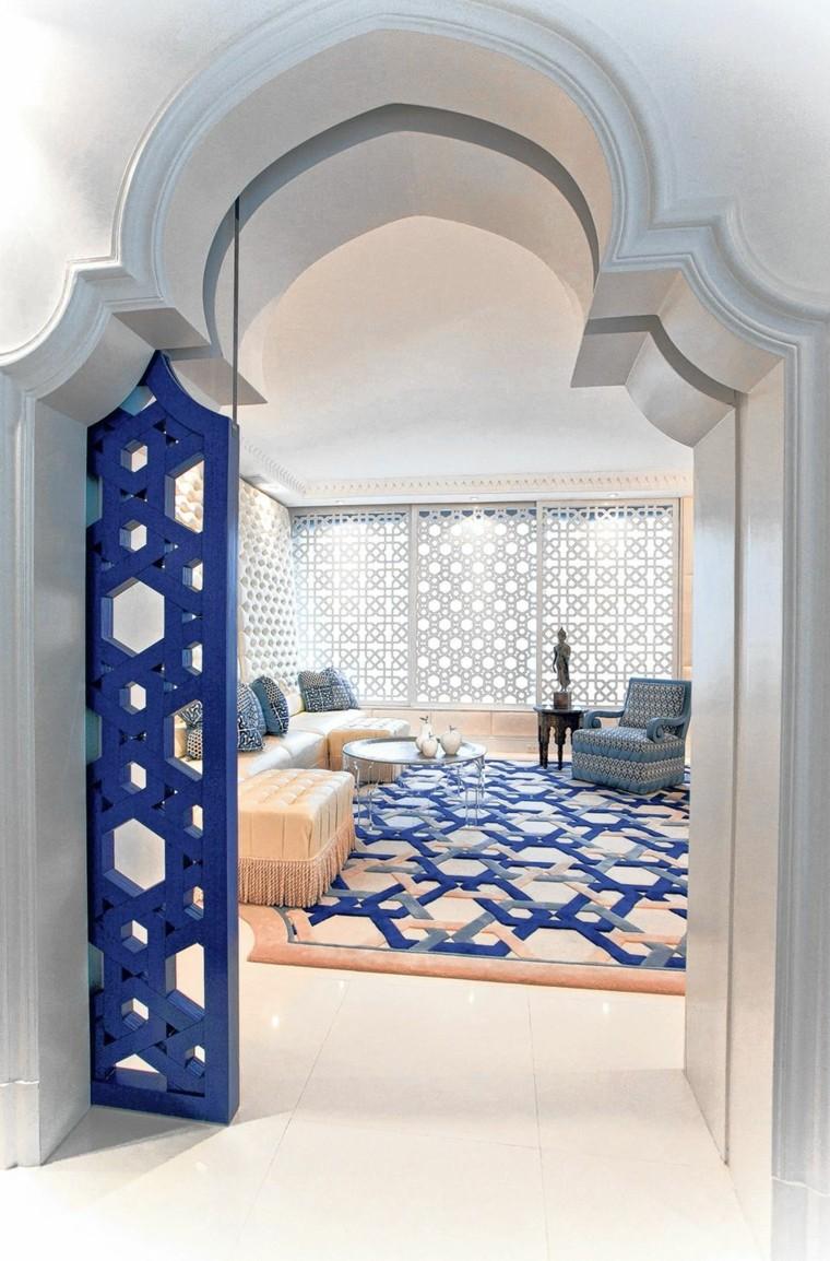 maroc-salon-blanc-bleu-idée-commune