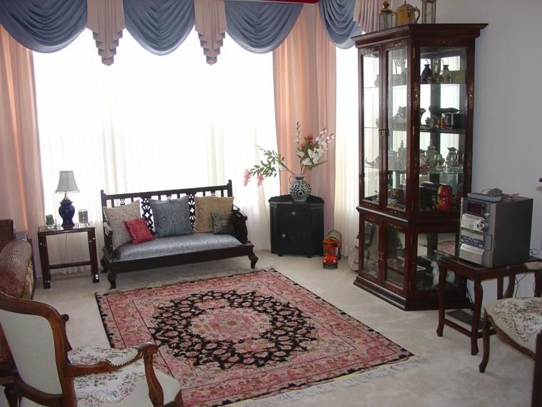 tapis simple de meubles en bois de style rustique