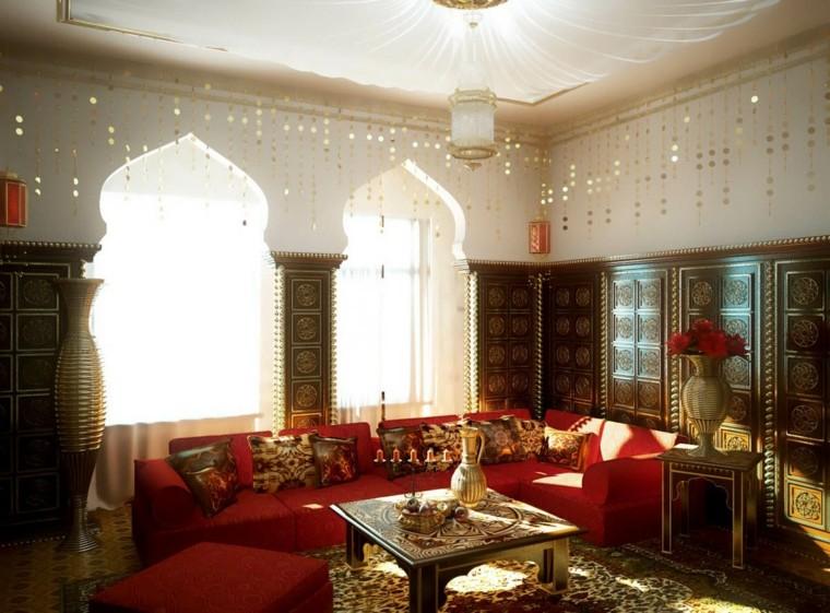 Salon de style marocain idées de canapé rouge