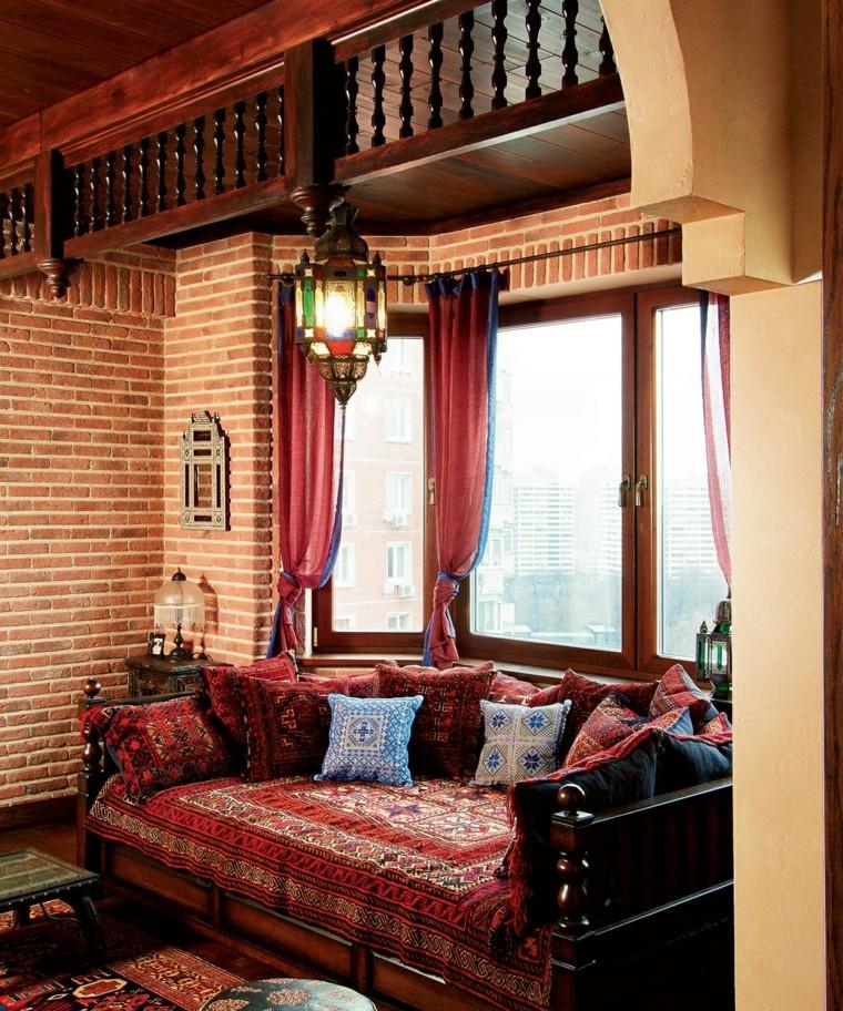 meubles rustiques idées bois salon impressions marocaines