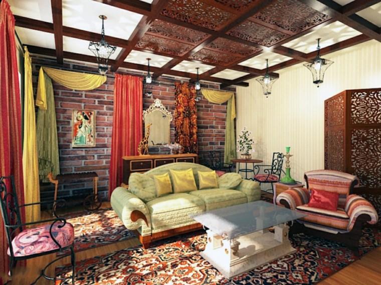 Salon marocain idées originales tissus tapis