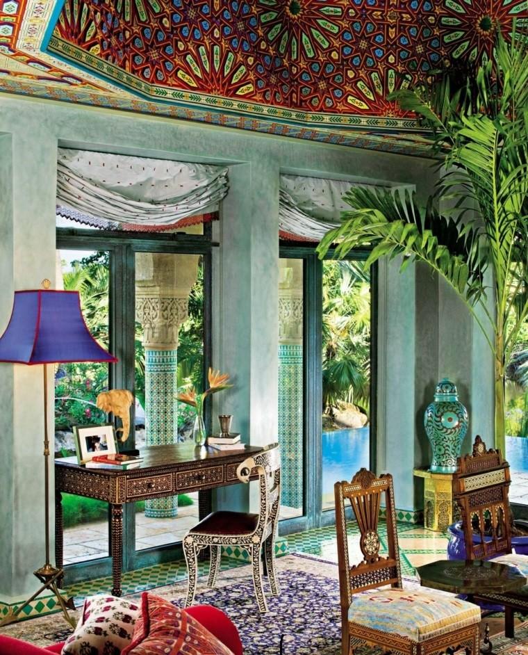 salon marocain style exotique idées de couleurs vibrantes