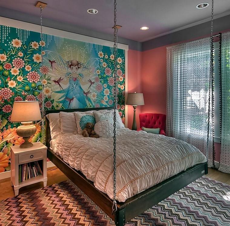 lit confortable chambre à coucher idées modernes fraîches
