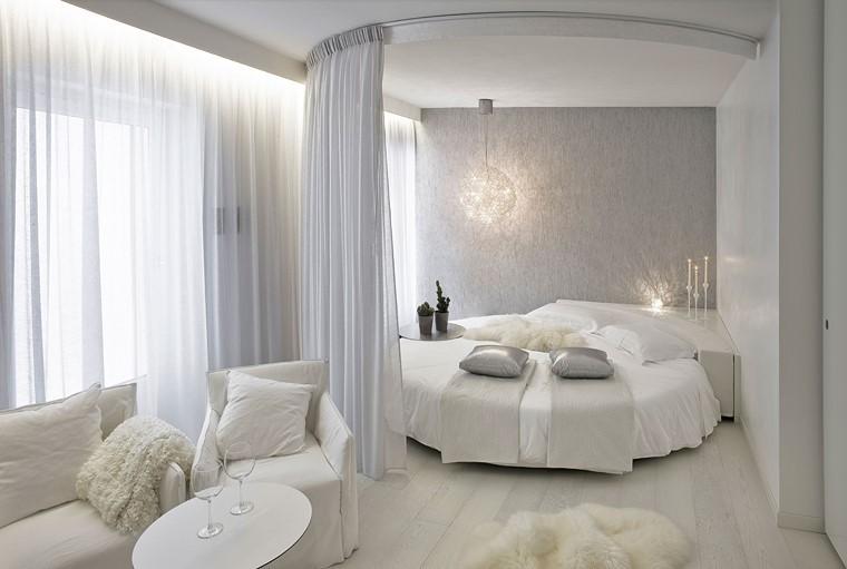 lit rond confortable idées modernes rideaux