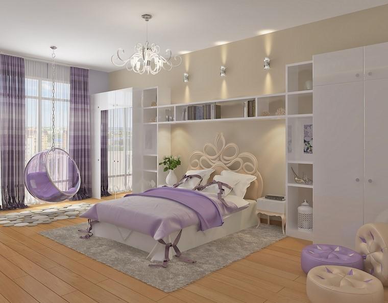 se détendre chambre lit incroyable violet moderne