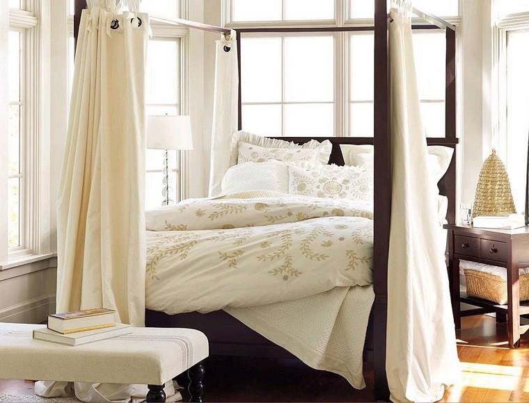 Idées de rideaux à baldaquin de lit commode moderne jolie