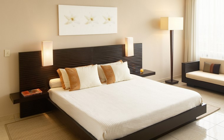 relax chambre grands lits idées modernes