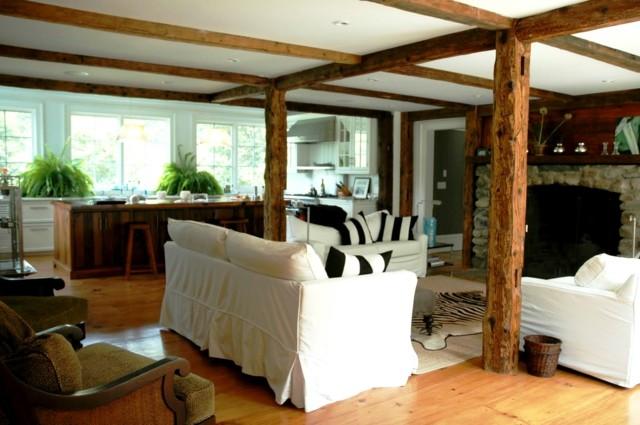 colonnes de plafond en bois idées de design intéressantes